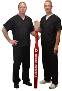 Dr. Bradford Allen (left) & Dr. Charles Falk (right) from All Family Dentistry in Peoria.