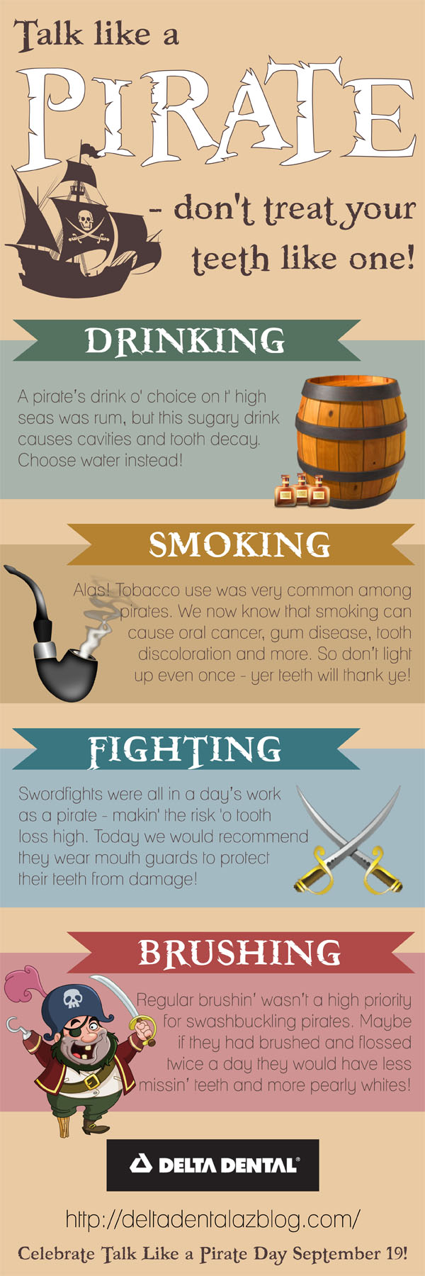 Delta Dental AZ Talk Like a Pirate Day Infographic