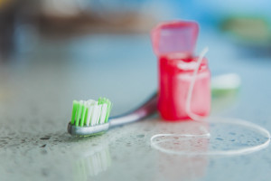 Brushing twice and flossing once daily can help keep you healthy.