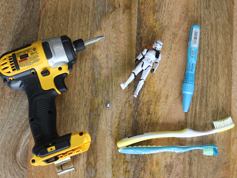DIY Star Wars Toothbrush Holder Materials